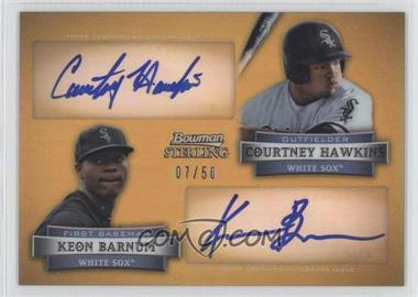 2012 Bowman Sterling Dual Autographs Gold Refractor [Autographed] #DA-HB - Courtney Hawkins, Keon Barnum /50