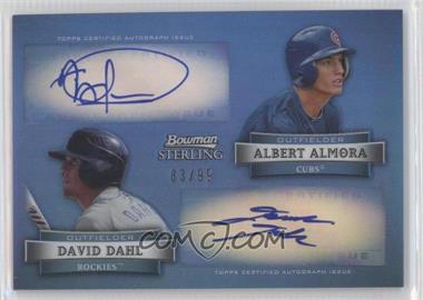 2012 Bowman Sterling Dual Autographs Refractor [Autographed] #DA-AD - Al Alburquerque, David Dahl /99