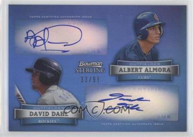 2012 Bowman Sterling Dual Autographs Refractor #DA-AD - David Dahl, Albert Almora /99