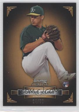 2012 Bowman Sterling Gold Refractor #22 - Tom Milone /50