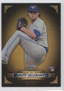 2012 Bowman Sterling Gold Refractor #36 - Drew Hutchison /50