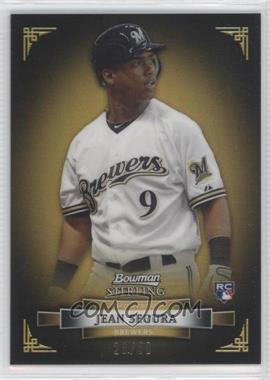 2012 Bowman Sterling Gold Refractor #44 - Jean Segura /50