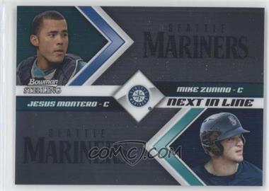 2012 Bowman Sterling Next in Line #NIL2 - Jesus Montero, Mike Zunino