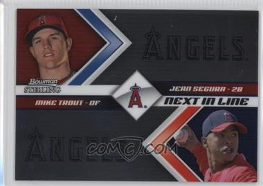 2012 Bowman Sterling Next in Line #NIL5 - Mike Trout, Jean Segura
