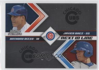 2012 Bowman Sterling Next in Line #NIL8 - Anthony Rizzo, Javier Baez