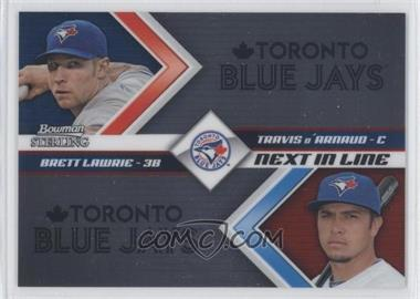 2012 Bowman Sterling Next in Line #NIL9 - Brett Lawrie, Travis d'Arnaud