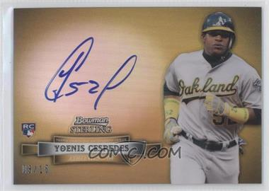 2012 Bowman Sterling Nickname Autograph [Autographed] #NNA-YC - Yoenis Cespedes /15
