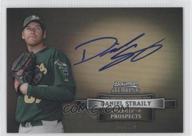 2012 Bowman Sterling Prospect Certified Autographs Black Refractor #BSAP-DS - Dan Straily /25