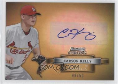 2012 Bowman Sterling Prospect Certified Autographs Gold Refractor #BSAP-CK - Carson Kelly /50