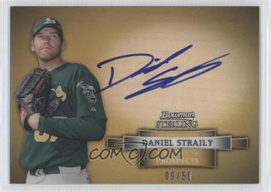 2012 Bowman Sterling Prospect Certified Autographs Gold Refractor #BSAP-DS - Dan Straily /50
