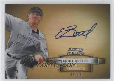 2012 Bowman Sterling Prospect Certified Autographs Gold Refractor #BSAP-EB - Eddie Butler /50