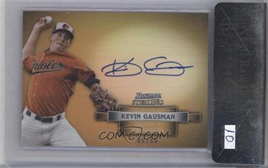 2012 Bowman Sterling Prospect Certified Autographs Gold Refractor #BSAP-KG - Kevin Gausman /50