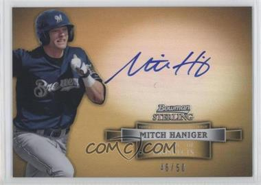 2012 Bowman Sterling Prospect Certified Autographs Gold Refractor #BSAP-MH - Mitch Haniger /50