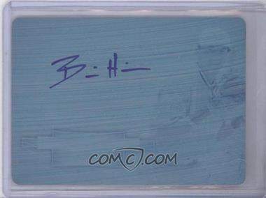 2012 Bowman Sterling Prospect Certified Autographs Printing Plate Cyan [Autographed] #BSAP-BH - Billy Hamilton /1