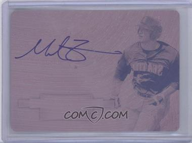 2012 Bowman Sterling Prospect Certified Autographs Printing Plate Magenta #BSAP-MZ - Mike Zunino /1