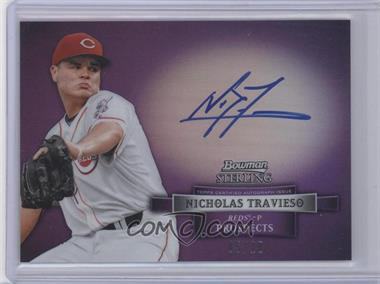 2012 Bowman Sterling Prospect Certified Autographs Purple Refractor [Autographed] #BSAP-NT - Nick Travieso /10