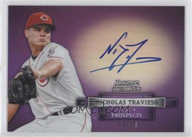 2012 Bowman Sterling Prospect Certified Autographs Purple Refractor #BSAP-NT - Nick Travieso /10