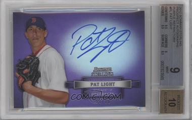 2012 Bowman Sterling Prospect Certified Autographs Purple Refractor #BSAP-PL - Pat Light /10 [BGS9]
