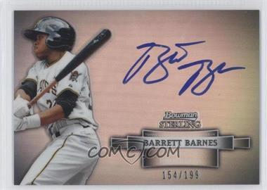 2012 Bowman Sterling Prospect Certified Autographs Refractor [Autographed] #BSAP-BB - Barrett Barnes /199