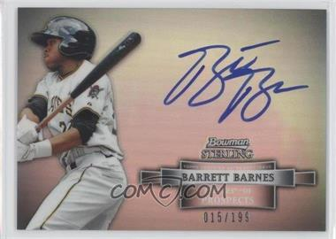 2012 Bowman Sterling Prospect Certified Autographs Refractor #BSAP-BB - Barrett Barnes /199