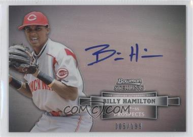2012 Bowman Sterling Prospect Certified Autographs Refractor #BSAP-BH - Billy Hamilton /199
