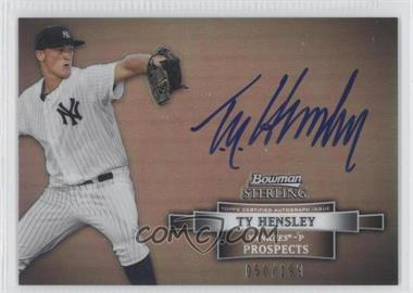 2012 Bowman Sterling Prospect Certified Autographs Refractor #BSAP-TH - Ty Hensley /199