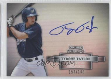 2012 Bowman Sterling Prospect Certified Autographs Refractor #BSAP-TT - Tyrone Taylor /199