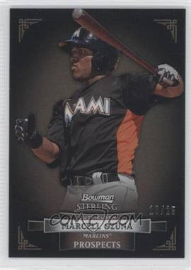 2012 Bowman Sterling Prospects Black Refractor #BSP31 - Marcell Ozuna /25
