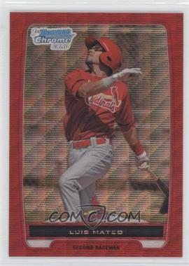2012 Bowman Wrapper Redemption Chrome Prospects Red Wave Refractor #BCP153 - Luis Mateo /25