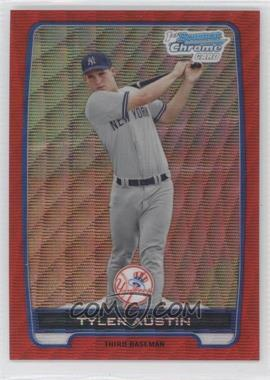 2012 Bowman Wrapper Redemption Chrome Prospects Red Wave Refractor #BCP17 - Tyler Austin /25