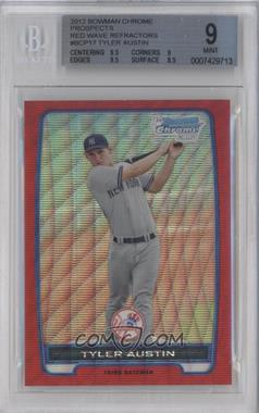 2012 Bowman Wrapper Redemption Chrome Prospects Red Wave Refractor #BCP17 - Tyler Austin /25 [BGS 9]
