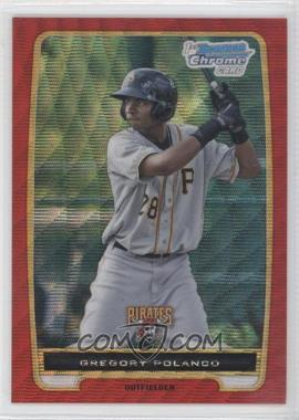 2012 Bowman Wrapper Redemption Chrome Prospects Red Wave Refractor #BCP182 - Gregory Polanco /25
