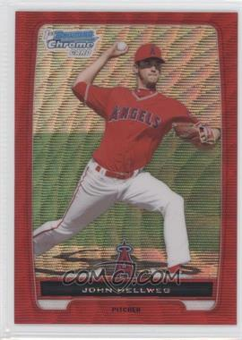 2012 Bowman Wrapper Redemption Chrome Prospects Red Wave Refractor #BCP218 - John Hester /25