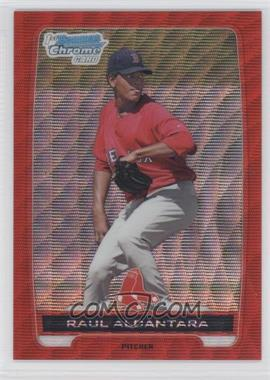 2012 Bowman Wrapper Redemption Chrome Prospects Red Wave Refractor #BCP25 - Raul Alcantara /25