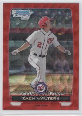 2012 Bowman Wrapper Redemption Chrome Prospects Red Wave Refractor #BCP41 - Zach Walters /25