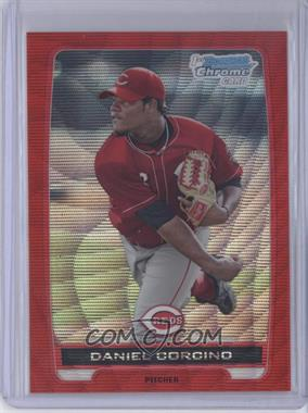 2012 Bowman Wrapper Redemption Chrome Prospects Red Wave Refractor #BCP59 - Daniel Corcino /25