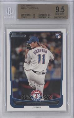 2012 Bowman #209 - Yu Darvish [BGS9.5]