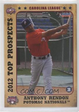 2012 Choice Carolina League Top Prospects - [Base] #02 - Anthony Rendon