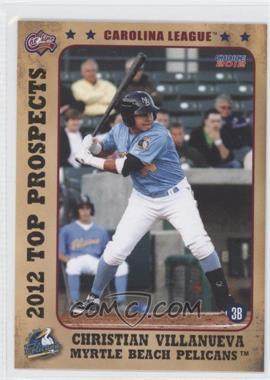 2012 Choice Carolina League Top Prospects - [Base] #18 - Christian Villanueva