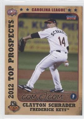 2012 Choice Carolina League Top Prospects - [Base] #21 - Clay Schrader