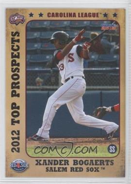 2012 Choice Carolina League Top Prospects #03 - Xander Bogaerts