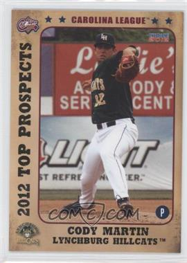 2012 Choice Carolina League Top Prospects #29 - Cody Martin
