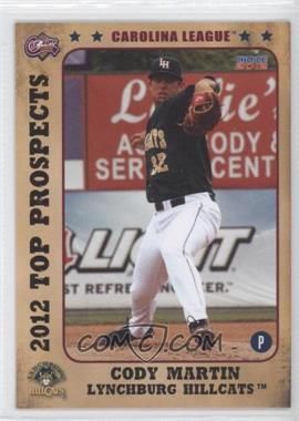 2012 Choice Carolina League Top Prospects #29 - Cory Mazzoni