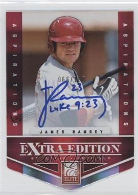 2012 Elite Extra Edition - [Base] - Aspirations Die-Cut Signatures [Autographed] #130 - James Ramsey /100