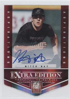 2012 Elite Extra Edition - [Base] - Aspirations Die-Cut Signatures [Autographed] #132 - Mitch Nay /100