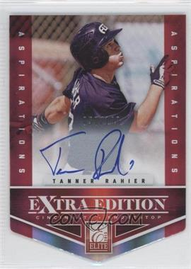 2012 Elite Extra Edition - [Base] - Aspirations Die-Cut Signatures [Autographed] #141 - Tanner Rahier /100