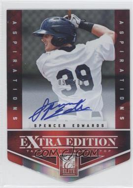 2012 Elite Extra Edition - [Base] - Aspirations Die-Cut Signatures [Autographed] #154 - Spencer Edwards /100