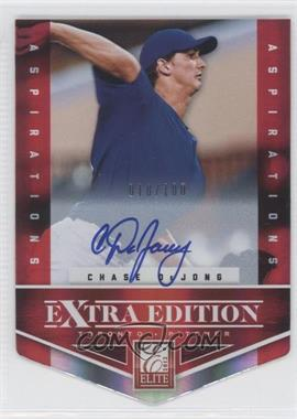 2012 Elite Extra Edition - [Base] - Aspirations Die-Cut Signatures [Autographed] #158 - Chase De Jong /100