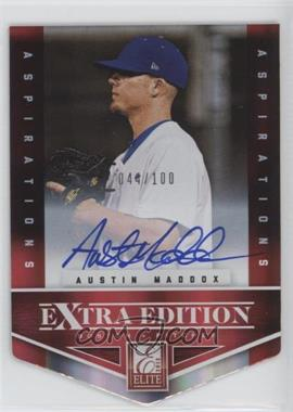 2012 Elite Extra Edition - [Base] - Aspirations Die-Cut Signatures [Autographed] #174 - Austin Maddox /100