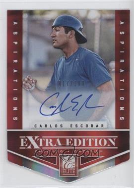 2012 Elite Extra Edition - [Base] - Aspirations Die-Cut Signatures [Autographed] #190 - Carlos Escobar /100